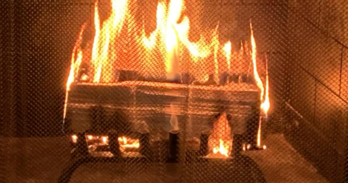 white-hot flame